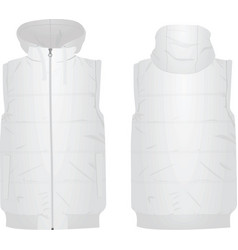 white puffer vest vector image vector image