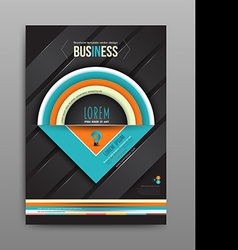 Brochure design template half circle on dark vector image