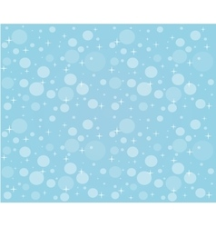 Christmas snowfall on the background of blue sky vector image vector image