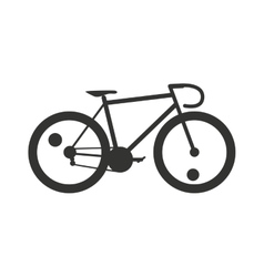 Classic sport bike silhouette pedal race vehicle vector image vector image