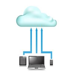 Cloud Store data upload vector image vector image