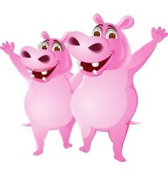 Hippo couple vector image vector image