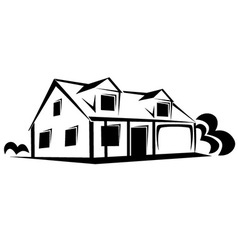 Real estate house sketch vector image vector image