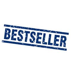 square grunge blue bestseller stamp vector image