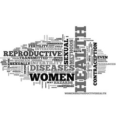 Women health reproductive text word cloud concept vector