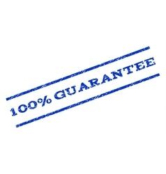 100 Percent Guarantee Watermark Stamp vector