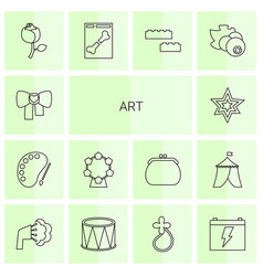 14 art icons vector