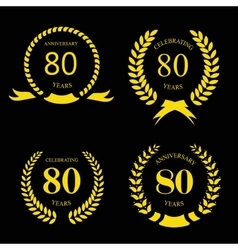 80 eighty years icon template for celebration vector