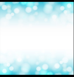Abstract blue sky background with blurred bokeh vector