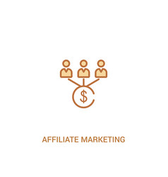 Affiliate marketing concept 2 colored icon simple vector
