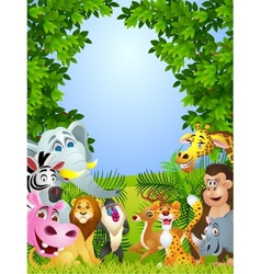 Animal cartoon vector image