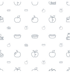 Apple icons pattern seamless white background vector