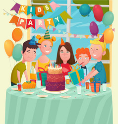 B-day party children composition vector