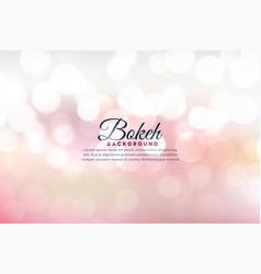 Beautiful soft bokeh lights background effect vector
