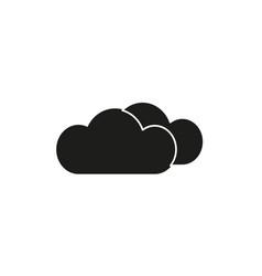 black clouds icon vector image