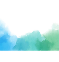 blue and green watercolor splash in cool tone vector image