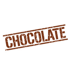 Chocolate stamp vector
