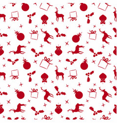christmas doodle ornament decoration background vector image
