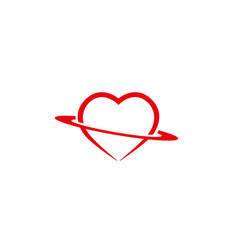 Circle holding heart for logo design vector