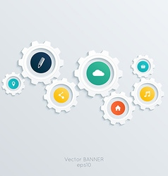 Cogwheel template vector