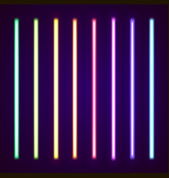 Collection of neon lights vector