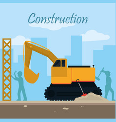 Construction zone concept vector