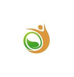 creative leaf seed body symbol logo vector image