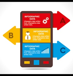 Creative mobile info-graphics design concept vector