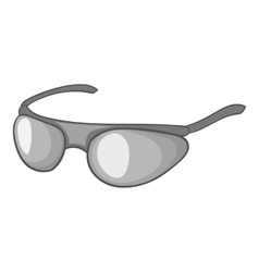 Cycling sunglasses icon gray monochrome style vector