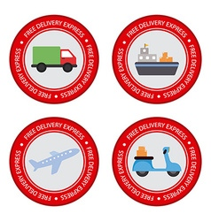 Delivery Objects labels vector image