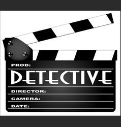 detective clapperboard vector image