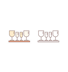 drinking glasses linear icon fragile vector image
