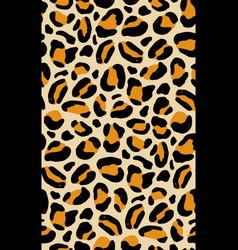Elegant seamless pattern with leopard coat fur vector