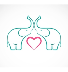 Elephant and heart vector