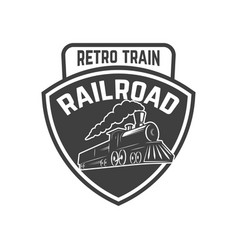 Emblem template with vintage train design element vector
