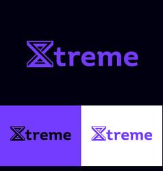Extreme logo monogram impossible figure vector