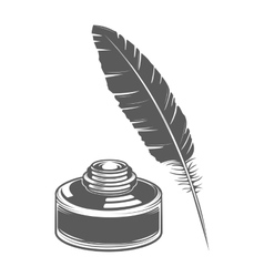 Feather pen and ink vector