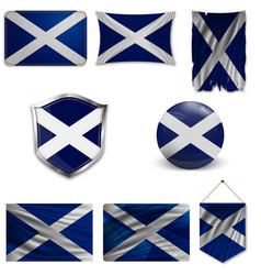 Flag scotland saint andrews cross accurate vector