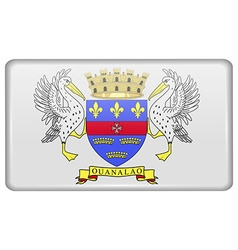 Flags Saint Barthelemy in the form of a magnet on vector