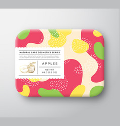 fruits bath cosmetics box wrapped paper vector image