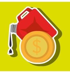 Gallon gasoline isolated icon design vector