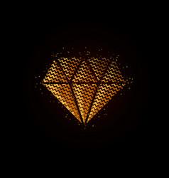 gold geometric textured diamond vector image