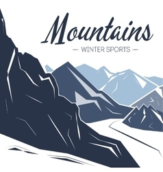 Holiday background with mountains vector image