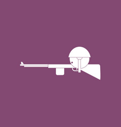 Icon soldier with rifle aiming vector