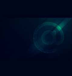 internet email symbol future technology vector image