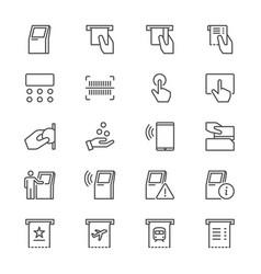 kiosk thin icons vector image