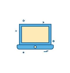 laptop icon design vector image