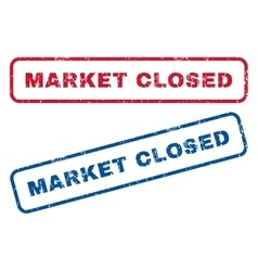 Market Closed Rubber Stamps vector image