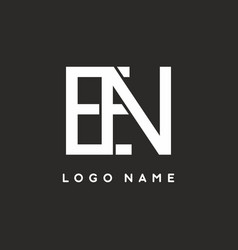 merger or ne or en letter logo template vector image
