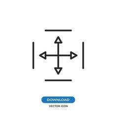 move arrows icon vector image